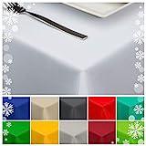 StoffTex Tischdecke Tischläufer Tischtuch Tischwäsche Tischdekoration Tafeltuch (Weiß, 120 x 160 cm)