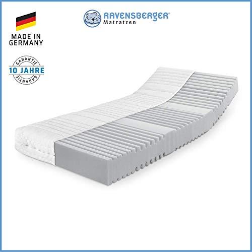 RAVENSBERGER Orthopädische   7-Zonen-HYBRID-Kaltschaumkomfortmatratze   RG 40 Härtegrad 4 (ab 120Kg)   Made IN Germany - 10 Jahre GARANTIE   Baumwoll-Doppeltuch-Bezug   100 x 200 cm