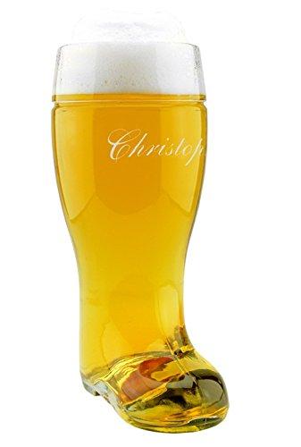 XXL Bierstiefel mit Gravur (mit Namen), Trinkstiefel, Stiefel, Bierglas, Bier-Boots, Herren, Männer, für Ihn, Geschenkidee für Bierliebhaber / für Ihn, Weihnachtsgeschenk, Geburtstagsgeschenk