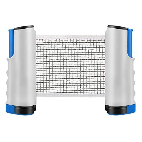 Tencoz Tischtennisnetze Versenkbare Tisch Tennis Net Tragbar Ping Pong Zubehör Net, Perfekt für Tisch Tennis,für alle Tischtennisplatten Einstellbare Länge 170(Max) x 14,5cm