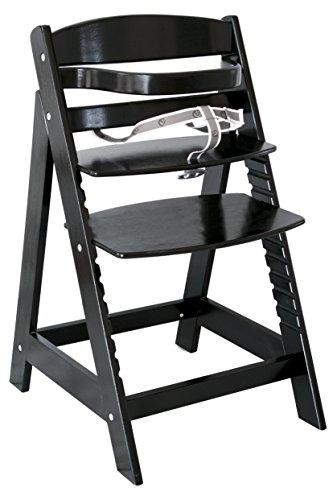 roba Treppenhochstuhl Sit Up III, mitwachsender Hochstuhl vom Babyhochstuhl bis zum Jugendstuhl, Holz, schwarz