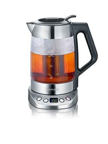 Severin WK 3479 Glas Tee und Wasserkocher Deluxe (3000 Watt, 1,7 Liter) edelstahl