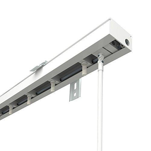 VICTORIA M Lamellenvorhang, Jalousie Schiene für 8,9cm Lamellen   200cm Länge, weiß