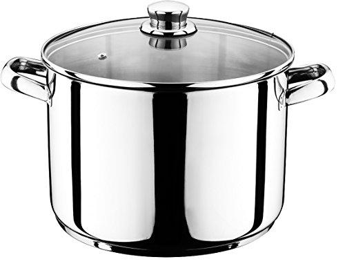 10 Liter Universal Kochtopf mit Glasdeckel Suppentopf Universaltopf Topf Eintopf INDUKTION (10 Liter)