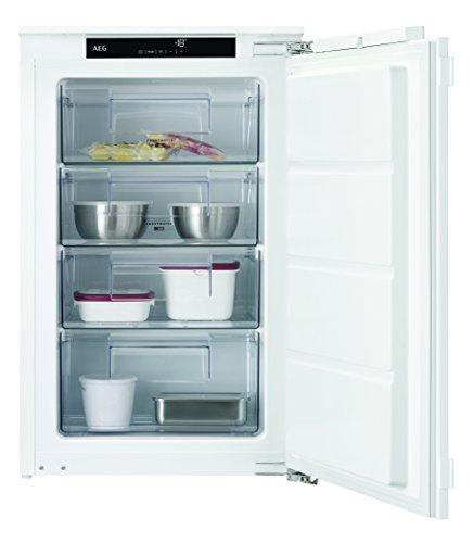 AEG ABE88821LF Einbau-Gefrierschrank / sparsamer Tiefkühlschrank mit LowFrost und Frostmatik-Technik / A++ (157 kWh/Jahr) / 98 Liter Gefrierfach mit Glasablagen / Einbau-Höhe: 88 cm / weiß