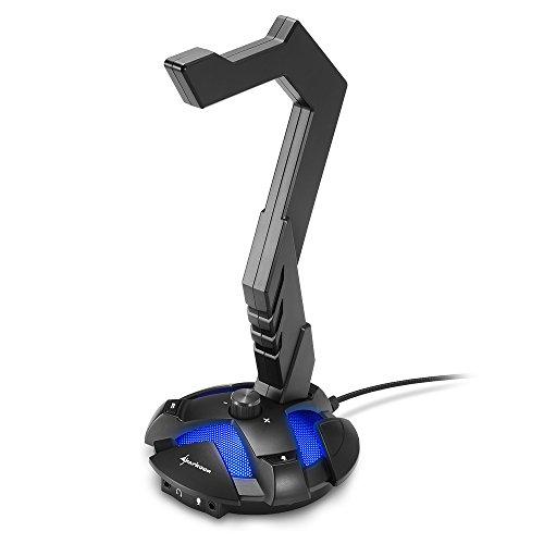 Sharkoon X-Rest 7.1 Surround Sound kopfhörer Ständer schwarz
