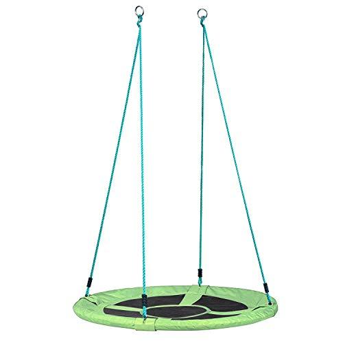 femor Nestschaukel 110 cm Belastbarkeit bis 120 kg Gartenschaukel Kinderschaukel, grün - Garten-Schaukel Outdoor Mehrkindschaukel