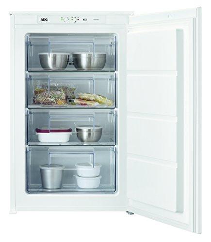 AEG ABB68821LS Einbau-Gefrierschrank / sparsamer Tiefkühlschrank mit LowFrost und Frostmatik-Technik / 98 Liter Gefrierfach mit Glasablagen / A++ (157 kWh/Jahr) / Einbau-Höhe: 88 cm / weiß