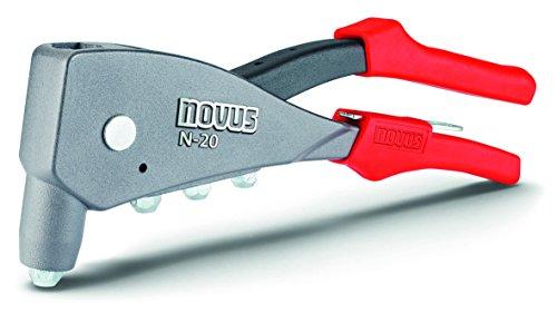 Novus Blindnietzange N-20, Einhand-Bedienung, Ergonomischer Griff, verarbeitet Alu-, Stahl- und Kupfer-Blindnieten