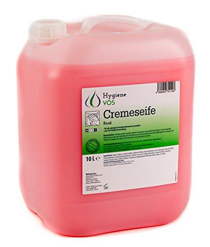 Hygiene VOS Cremeseife 10 Liter milde Waschlotion Seifencreme rosa für alle gängigen Druckspendersysteme und Seifenspender