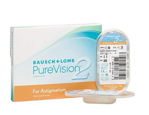 PureVision2 HD for Astigmatism Monatslinsen weich, 3 Stück / BC 8.90 mm / DIA 14.50 CYL -0.75 / ACHSE 100 / -03.25 Dioptrien