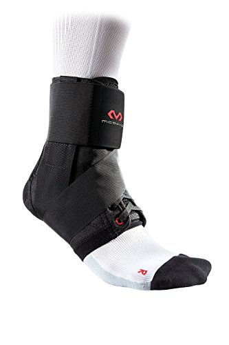 McDavid Fußgelenkstütze mit Strap-Streifen für Herren und Damen - Ultralite - Schwarz oder Weiß - Maximaler Schutz: Hilft Verstauchungen zu verhindern oder sich von diesen zu erholen