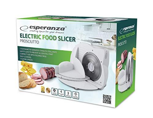 Esperanza Allesschneider Brotschneidemaschine Fleisch Käse Obst Gemüse, Sicherung 150W