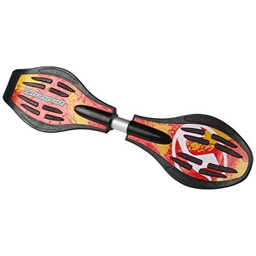 Ultrasport Waveboard, sehr leicht und wendig in coolem Design mit leuchtenden Rädern, für Kinder ab 8 Jahren