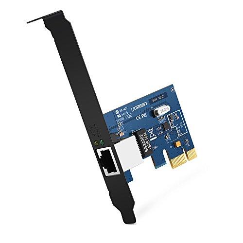 UGREEN PCI Express PCIe Netzwerkkarte Gigabit Ethernet LAN Card 10/100/1000 Mbps mit Low Profile für Windows10, Vista, XP, Win8 und Win 7