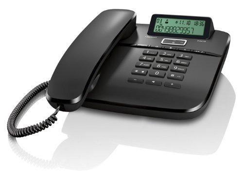 Gigaset DA610 Telefon, Schnurgebundes Telefon / Schnurtelefon, Display, Freisprechen, Stummschaltung, Mute, Analog Telefon, schwarz