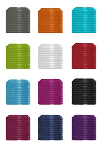 SUPERTOLL 10er Pack Gästetücher, 30x50 cm zum Sonderpreis 100% Baumwolle in vielen Farben - 10er Pack Gästetuch, Gästetücher, 30x50 cm, Farbe Anthrazit