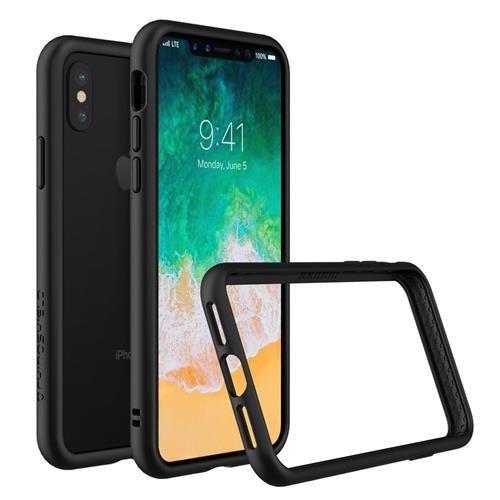 iPhone X Dünnes Bumper Case [CrashGuard] Shock Absorbierend minimalistisches Design Schutzhülle [3,5 Meter Fallschutz] - Schwarz