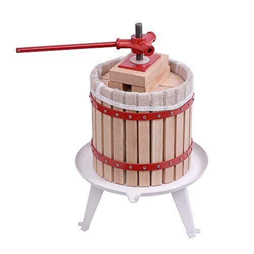 UISEBRT Obstpresse Presstuch 12L Mechanische Saftpresse Weinpresse Apfelpresse Fruchtpresse