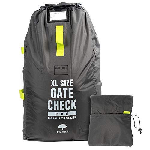 Bramble Extra große Gate-Checktasche - Kinderwagen Transporttaschen Tragetasche Faltbar mit Schulterriemen für Flughafen, Bahnhof, Autofahrten Inklusive klappbarer Reisetasche