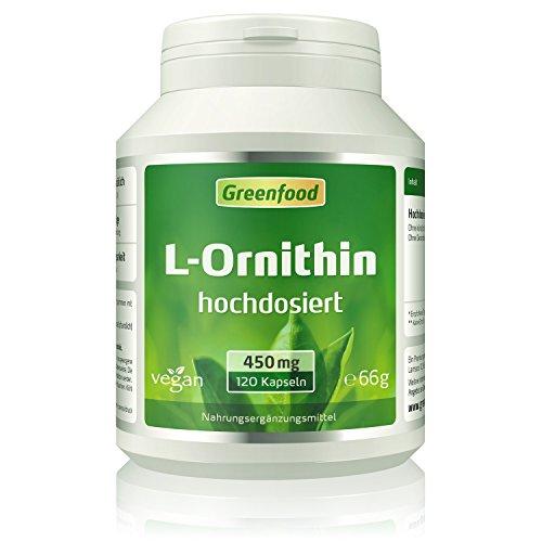 Greenfood L-Ornithin, 500mg, hochdosiert