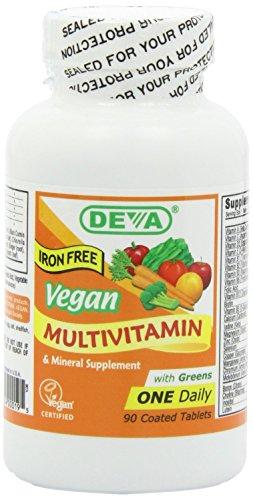 Deva Multivitamine und Mineralien Nahrungsergänzungsmittel vegan 90 Tabletten