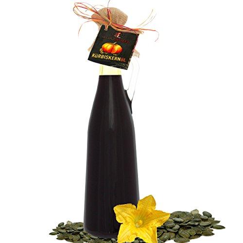 Kürbiskernöl in Premiumqualität aus Österreich, Steiermark g.g.A.. Naturrein, Kaltgepresst, Ungefiltert. AMPHORE MAGNUM - Flasche: 1500ml. (1,5 Liter)
