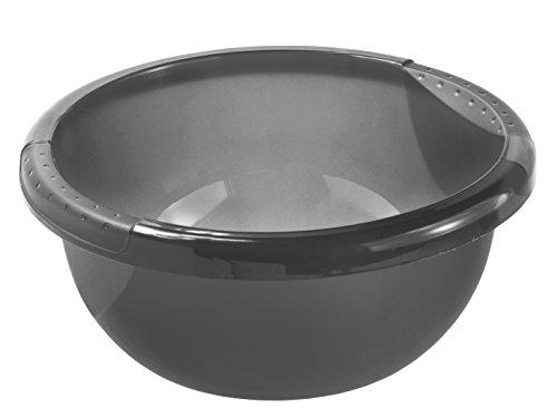 Rotho 1779508812 Becken Daily Rund, Spülwanne aus Kunststoff (PP) in Anthrazit, Inhalt 4 L, circa' 29 x 29 x 12 cm Kunststoffwanne, Plastik