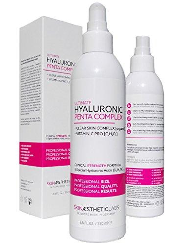 Skinaestheticlabs Germany Hyaluronsäure Serum Konzentrat • Anti Aging Gel mit Vitamin C Pro • Clear Skin Complex • Hypoallergen • Pflege für Gesicht, Hals und Dekolleté • 1er Pack (1 x 250 ml)