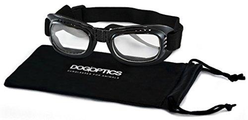 Hundebrille für kleine Hunde klare Gläser S Dogoptics Augenschutzbrille