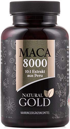 EINFÜHRUNGSPREIS - Original Maca Extrakt aus Peru - Maca 8000 - hochdosiert, vegan und ohne Magnesiumstearat - 10:1 Extrakt - 180 Maca Kapseln