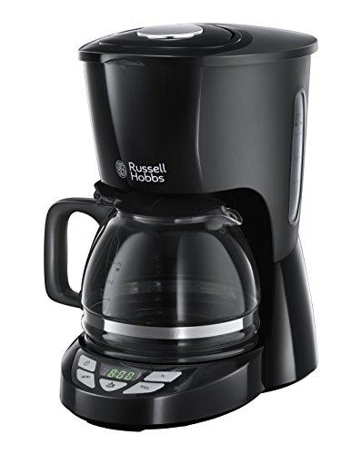 Russell Hobbs Digitale Kaffeemaschine Textures Plus, programmierbarer Timer, bis 10 Tassen, 1,25l Glaskanne, Warmhalteplatte, Abschaltautomatik, Tropf-Stopp, 975W, Filterkaffeemaschine 22620-56