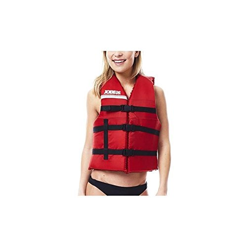 Jobe Universal Vest Nylon Unisex Schwimm Boots Jetski Wakeboard Wasserski Weste red