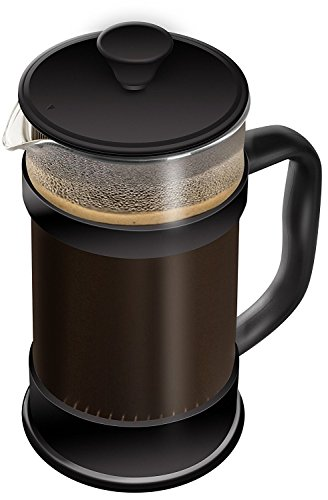 Kaffeebereiter mit Edelstahlfilter - Französische Kaffeepresse - French Press System 34 oz (1L, Schwarz) - von Utopia Kitchen
