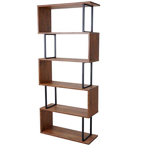 Bücherregal Dohna, Standregal Wohnregal, 183x80cm 3D-Struktur 5 Ebenen ~ Wildeiche