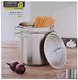 Home Creation Pastatopf 6L Spargeltopf Spaghetti Topf Kochtopf Nudeltopf Deckel Glas-Edelstahl (Edelstahldeckel)