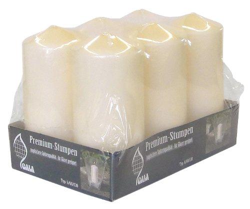 Premium-Stumpenkerze Typ 6/60/130, 6er-Pack