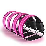 EAZY CASE 4 x LED Armband – Klettarmband mit 3 verschiedenen Modi I Leuchtarmband zur besseren Sichtbarkeit beim Joggen, Radfahren, Reflektor ideal für Kinder und Aktivitäten in der Dunkelheit, Pink