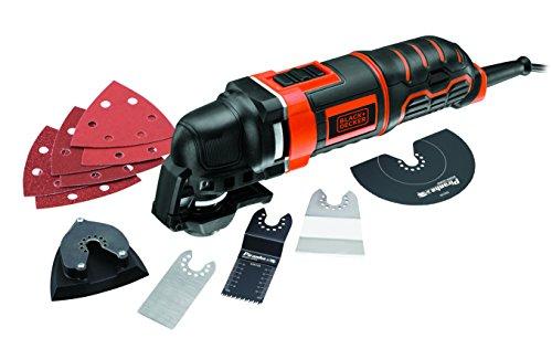 Black+Decker Multifunktionsgerät MT300KA zum Schneiden, Schleifen, Entfernen, Schaben / Mit Adapter für Universalzubehör anderer Hersteller & umfangreichem Zubehör / Zubehörwechsel auf Knopfdruck