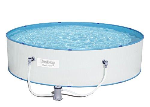 Bestway Hydrium Splasher-/Stahlwand Pool Set, mit Filterpumpe, 330 x 84 cm