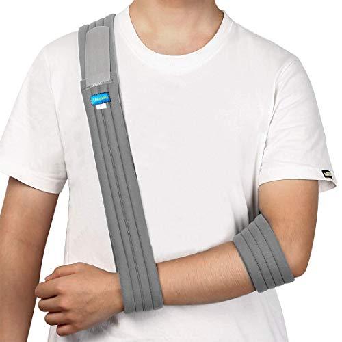 Armschlinge - Medizinische Stützriemen für gebrochene und gebrochene Knochen - verstellbare Schulter, Rotator-Manschette, Vollweicher Wegfahrsperre - für linken, rechten Arm, Männer und Frauen
