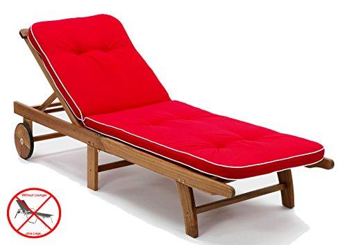 Sun Garden Liegenauflagen Tomiro 50077-33 in rot 189 x 60 x 6 cm (ohne Holzliege!)