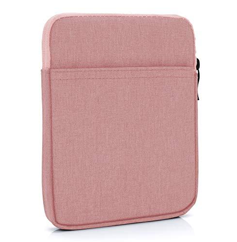 MyGadget 10 Zoll Nylon Sleeve Hülle - Schutzhülle Tasche 10' für Tablet & Mini Laptop z.B. Apple iPad 9.7' (Air, Pro) Mini, Samsung Galaxy Tab S3 - Rosa