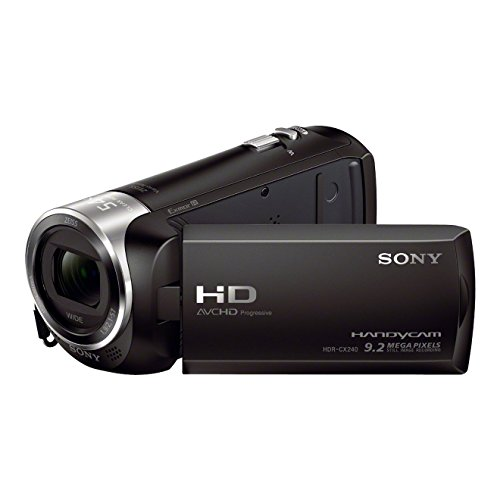Sony HDR-CX240E HD Flash Camcorder (Full HD, EXMOR R CMOS Sensor, 9,2 Megapixel, BIONZ X Bildprozessor) schwarz
