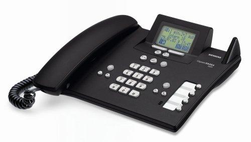 Siemens Gigaset SX353 ISDN, schnurlos erweiterbares ISDN-Komfort-Telefon mit integriertem Anrufbeantworter und Bluetooth, schwarz