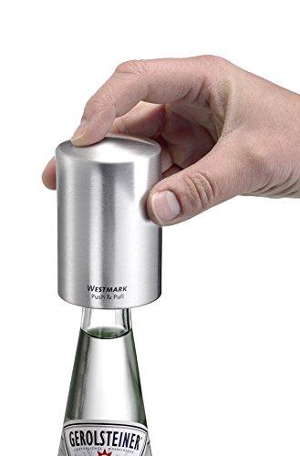 Westmark 61882260 Flaschenöffner Push und Pull, Kunststoff, Aluminium, 53 x 53 x 80 mm