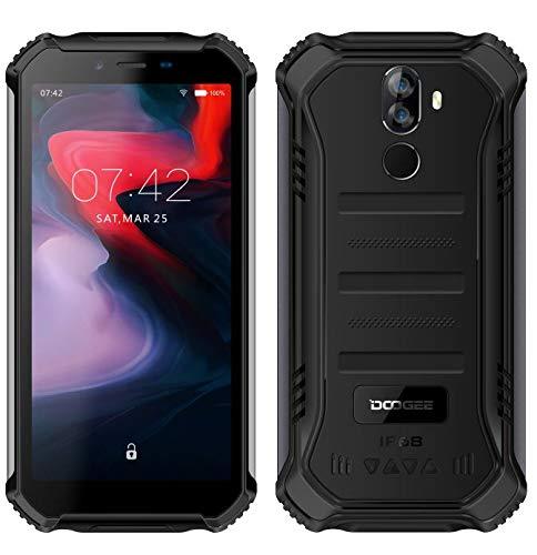 DOOGEE S40 (3GB+32GB) Robustes 4G Android 9,0 Handy ohne Vertrag,5,5' HD (Gorilla Glass 4) IP68 Outdoor wasserdichtes Telephone DUAL SIM Militär Smartphone, 4650mAh Akku, Quadcore 1,5GHz NFC - Schwarz
