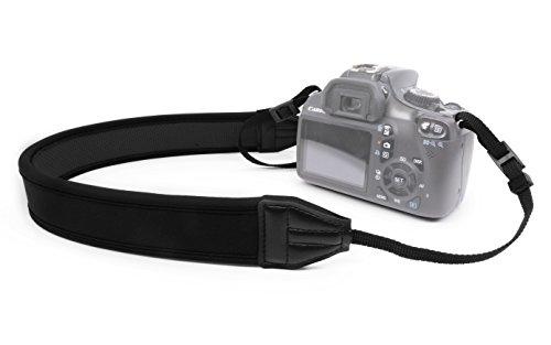 MyGadget Kamera Tragegurt für den Hals - Super weicher Kameragurt Schulter Strap Kameraband für SLR DSLR z.B. Canon, Sony, Nikon, Panasonic - Schwarz