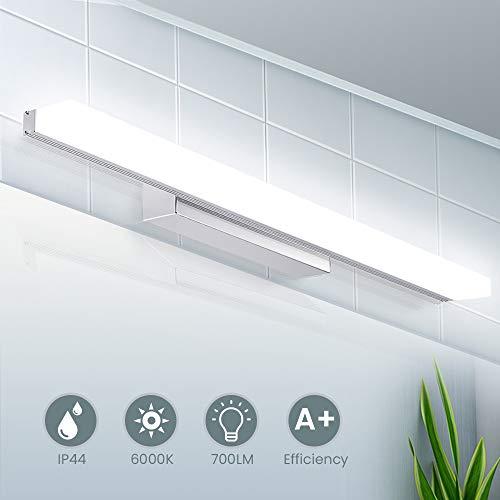 LED Spiegelleuchte 40cm, IP44 Wasserdichte Badleuchte für Wandbeleuchtung und Badzimmer | Schminklicht Wandleuchte Badlampe | 6000K Weißlicht, 8W, 700lm, 220V | SOLMORE