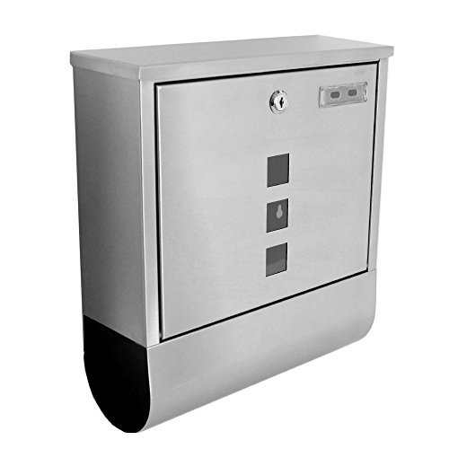 TecTake Edelstahl Briefkasten - diverse Modelle - (Typ 4 | Nr. 400612)